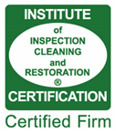 Insitute of Inspection Cleaning and Restoration Certificate Logo