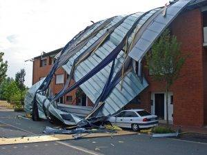 torn roof